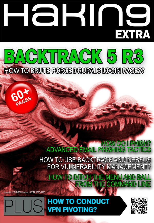 How to Use Backtrack for Vulnerability Management? Hakin9 Extra 01/2013